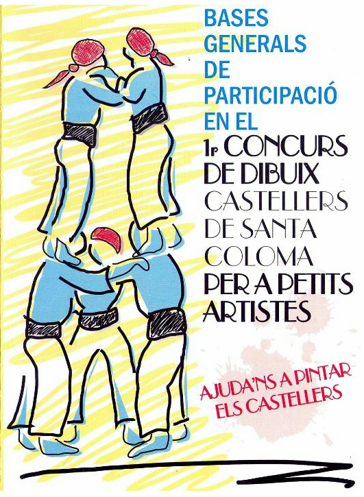 i concurs dibuix castellers santa coloma